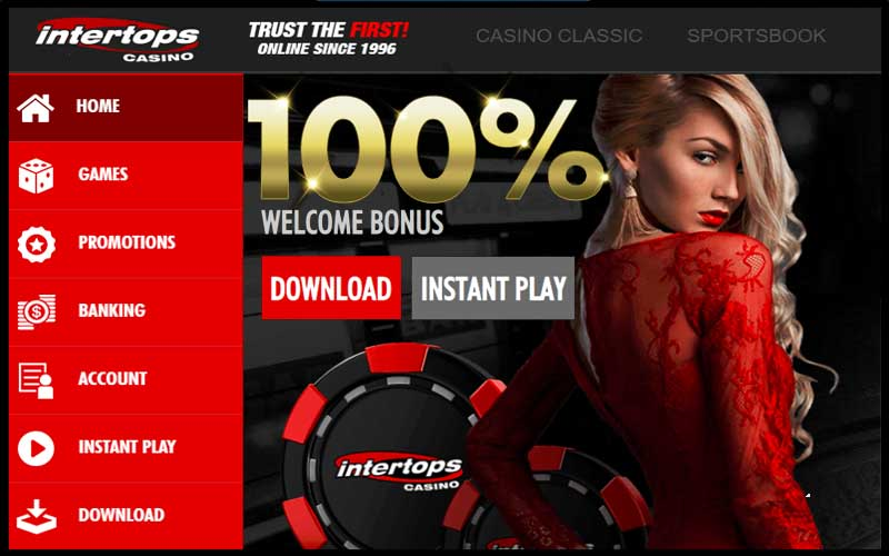 Intertops Casino Banking for Canadians